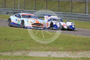 World © Octane Photographic Ltd. FIA World Endurance Championship (WEC), 6 Hours of Nurburgring , Germany - Press Conference, Friday 28th August 2015. Aston Martin Racing – Aston Martin Vantage V8 - LMGTE Pro – Marco Sorensen and Christoffer Nygaard and Toyota Racing – Toyota TS040 Hybrid - LMP1 - Alexander Wurz, Stephane Sarrazin and Mike Conway. Digital Ref : 1394LB5D0485