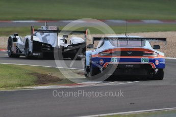 World © Octane Photographic Ltd. FIA World Endurance Championship (WEC), 6 Hours of Nurburgring , Germany - Practice 3, Saturday 29th August 2015. Aston Martin Racing – Aston Martin Vantage V8 - LMGTE Pro – Darren Turner, Stefan Mucke and Jonathan Adam and Porsche Team – Porsche 919 Hybrid - LM LMP1 – Romain Dumas, Neel Jani and Marc Lieb. Digital Ref : 1395LB1D5415