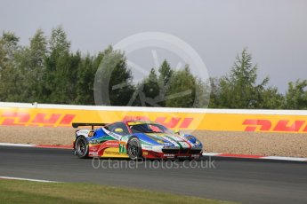 World © Octane Photographic Ltd. FIA World Endurance Championship (WEC), 6 Hours of Nurburgring , Germany - Practice 3, Saturday 29th August 2015. AF Corse – Ferrari F458 Italia GT2 - LMGTE Pro – Davide Rigon and James Calado. Digital Ref : 1395LB5D0563
