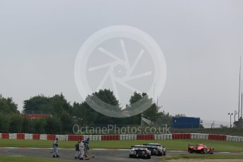 World © Octane Photographic Ltd. FIA World Endurance Championship (WEC), 6 Hours of Nurburgring , Germany - Practice 3, Saturday 29th August 2015. Marshals clearing gravel from the track. Digital Ref : 1395LB5D0590