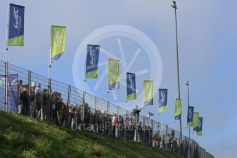 World © Octane Photographic Ltd. FIA World Endurance Championship (WEC), 6 Hours of Nurburgring , Germany - Practice 3, Saturday 29th August 2015. Crowds with the WEC flags. Digital Ref : 1395LB5D0599