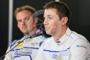World © Octane Photographic Ltd. FIA World Endurance Championship (WEC), 6 Hours of Nurburgring , Germany - Qualifying Press Conference, Saturday 29th August 2015. KCMG – Oreca 05 – LMP2 – Matthew Howson and Nick Tandy. Digital Ref : 1397LB5D1145