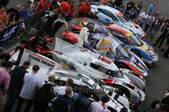 World © Octane Photographic Ltd. FIA World Endurance Championship (WEC), 6 Hours of Nurburgring , Germany - Qualifying Parc Ferme with Porsche, Audi, Ferrari and Aston Martin, Saturday 29th August 2015. Digital Ref : 1397LB5D1163