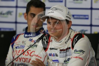 World © Octane Photographic Ltd. FIA World Endurance Championship (WEC), 6 Hours of Nurburgring , Germany - Press Conference, Friday 28th August 2015. Porsche Team – Marc Lieb and Toyota Racing – Sebastien Buemi. Digital Ref : 1393LB5D0214