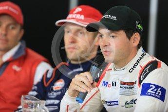 World © Octane Photographic Ltd. FIA World Endurance Championship (WEC), 6 Hours of Nurburgring , Germany - Press Conference, Friday 28th August 2015. Porsche Team Manthey – Richard Lietz. Digital Ref : 1393LB5D0251