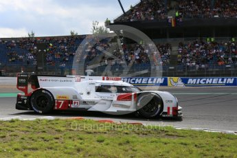 World © Octane Photographic Ltd. FIA World Endurance Championship (WEC), 6 Hours of Nurburgring , Germany - Qualifying, Saturday 29th August 2015. Audi Sport Team Joest- Audi R18 e-tron Quatrro - LMP1 - Andre Lotterer, Benoit Treluyer and Marcel Fassler. Digital Ref : 1396LB5D0991