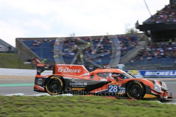 World © Octane Photographic Ltd. FIA World Endurance Championship (WEC), 6 Hours of Nurburgring , Germany - Qualifying, Saturday 29th August 2015. G-Drive Racing – Nissan Ligier JS P2 – LMP2 – Gustavo Yacaman, Ricardo Gonzalez and Luis Felipe Derani. Digital Ref : 1396LB5D1079