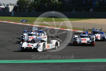 World © Octane Photographic Ltd. FIA World Endurance Championship (WEC), 6 Hours of Nurburgring , Germany - Race, Sunday 30th August 2015. Porsche - Porsche - Audi - Audi - Toyota - Toyota on lap 1. Digital Ref : 1398LB1D6322