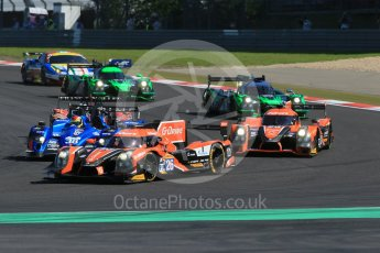 World © Octane Photographic Ltd. FIA World Endurance Championship (WEC), 6 Hours of Nurburgring , Germany - Race, Sunday 30th August 2015. G-Drive Racing – Nissan Ligier JS P2 – LMP2 – Roman Rusinov, Julien Canal and Sam Bird and Signatech Alpine – Alpine A450b - LMP2 - Nelson Panciatici, Paul-Loup Chatin and Vincent Capillaire. Digital Ref : 1398LB1D6338