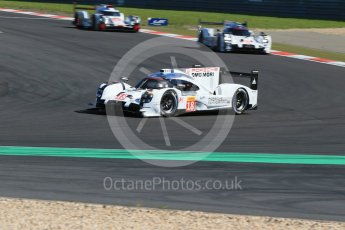 World © Octane Photographic Ltd. FIA World Endurance Championship (WEC), 6 Hours of Nurburgring , Germany - Race, Sunday 30th August 2015. Porsche Team – Porsche 919 Hybrid - LM LMP1 – Romain Dumas, Neel Jani and Marc Lieb and Timo Bernhard, Mark Webber and Brendon Hartley and Audi Sport Team Joest- Audi R18 e-tron Quatrro - LMP1 - Andre Lotterer, Benoit Treluyer and Marcel Fassler. Digital Ref : 1398LB1D6379