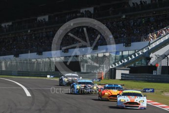 World © Octane Photographic Ltd. FIA World Endurance Championship (WEC), 6 Hours of Nurburgring , Germany - Race, Sunday 30th August 2015. Aston Martin Racing – Aston Martin Vantage V8 - LMGTE Pro – Darren Turner, Stefan Mucke and Jonathan Adam and Fernando Rees, Alex MacDowell and Richie Stanaway. Digital Ref : 1398LB1D6592