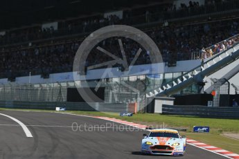 World © Octane Photographic Ltd. FIA World Endurance Championship (WEC), 6 Hours of Nurburgring , Germany - Race, Sunday 30th August 2015. Aston Martin Racing – Aston Martin Vantage GTE - LMGTE Am – Roalde Goethe, Stuart Hall and Francesco Castellacci. Digital Ref : 1398LB1D6603