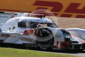 World © Octane Photographic Ltd. FIA World Endurance Championship (WEC), 6 Hours of Nurburgring , Germany - Race, Sunday 30th August 2015. Audi Sport Team Joest- Audi R18 e-tron Quatrro - LMP1 - Oliver Jarvis, Lucas di Grassi and Loic Duval. Digital Ref : 1398LB1D7514