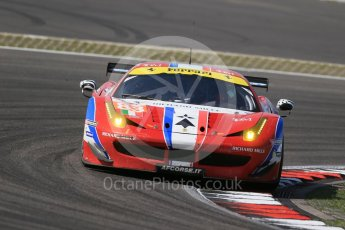 World © Octane Photographic Ltd. FIA World Endurance Championship (WEC), 6 Hours of Nurburgring , Germany - Race, Sunday 30th August 2015. AF Corse - F458 Italia GT2 - LMGTE - LMGTE Am – Francois Perrodo, Emmanuel Collard and Rui Aguas. Digital Ref : 1398LB1D7633