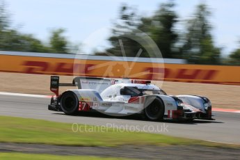 World © Octane Photographic Ltd. FIA World Endurance Championship (WEC), 6 Hours of Nurburgring , Germany - Race, Sunday 30th August 2015. Audi Sport Team Joest- Audi R18 e-tron Quatrro - LMP1 - Andre Lotterer, Benoit Treluyer and Marcel Fassler. Digital Ref : 1398LB5D1311