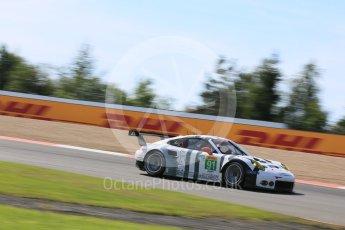 World © Octane Photographic Ltd. FIA World Endurance Championship (WEC), 6 Hours of Nurburgring , Germany - Race, Sunday 30th August 2015. Porsche Team Manthey – Porsche 911RSR - LMGTE Pro – Richard Lietz and Michael Chistensen. Digital Ref : 1398LB5D1403