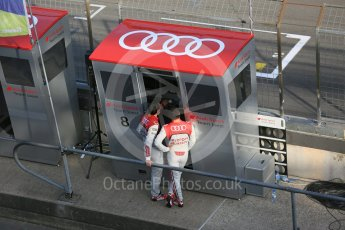 World © Octane Photographic Ltd. FIA World Endurance Championship (WEC), 6 Hours of Nurburgring , Germany - Race, Sunday 30th August 2015. Audi Sport Team Joest- pitwall. Digital Ref : 1398LB5D1903