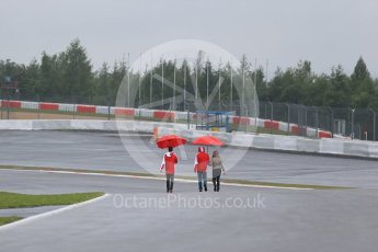 World © Octane Photographic Ltd. FIA World Endurance Championship (WEC), 6 Hours of Nurburgring , Germany - Setup, Thursday 27th August 2015. Teams on the track walk. Digital Ref : 1391LB1D2523