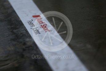 World © Octane Photographic Ltd. FIA World Endurance Championship (WEC), 6 Hours of Nurburgring , Germany - Setup, Thursday 27th August 2015. Audi Sport Team Joest- Audi R18 e-tron Quatrro - LMP1- heavy rain. Digital Ref : 1391LB1D2565