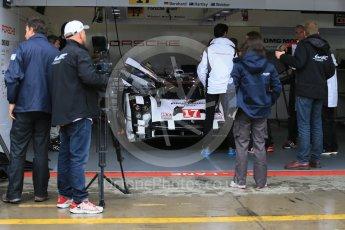 World © Octane Photographic Ltd. FIA World Endurance Championship (WEC), 6 Hours of Nurburgring , Germany - Setup, Thursday 27th August 2015. Porsche Team – Porsche 919 Hybrid - LMP1 - Timo Bernhard, Mark Webber and Brendon Hartley. Digital Ref : 1391LB1D2574