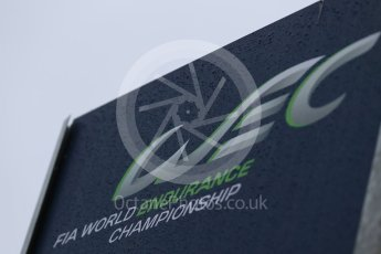World © Octane Photographic Ltd. FIA World Endurance Championship (WEC) logo, 6 Hours of Nurburgring , Germany - Paddock, Thursday 27th August 2015. Digital Ref : 1391LB1D2599
