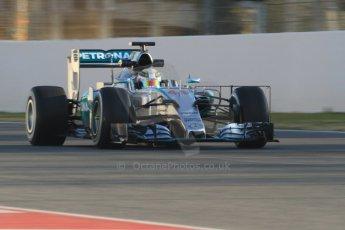 World © Octane Photographic Ltd. Mercedes AMG Petronas F1 W06 Hybrid – Lewis Hamilton. Thursday 19th February 2015, F1 Winter testing, Circuit de Catalunya, Barcelona, Spain, Day 1. Digital Ref : 1187CB7B0144