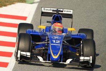 World © Octane Photographic Ltd. Sauber F1 Team C34-Ferrari – Felipe Nasr. Thursday 19th February 2015, F1 Winter testing, Circuit de Catalunya, Barcelona, Spain, Day 1. Digital Ref : 1187CB7B0159