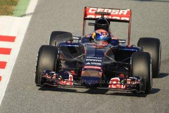 World © Octane Photographic Ltd. Scuderia Toro Rosso STR10 – Max Verstappen. Thursday 19th February 2015, F1 Winter testing, Circuit de Catalunya, Barcelona, Spain, Day 1. Digital Ref: 1187CB7B0161
