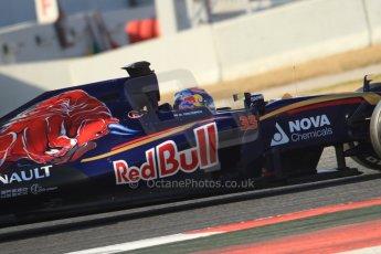 World © Octane Photographic Ltd. Scuderia Toro Rosso STR10 – Max Verstappen. Thursday 19th February 2015, F1 Winter testing, Circuit de Catalunya, Barcelona, Spain, Day 1. Digital Ref: 1187CB7B0170