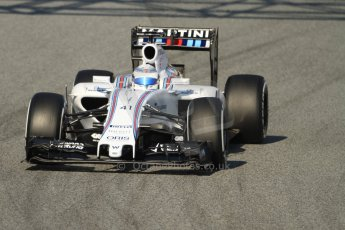 World © Octane Photographic Ltd. Williams Martini Racing FW37 – Susie Wolff. Thursday 19th February 2015, F1 Winter testing, Circuit de Catalunya, Barcelona, Spain, Day 1. Digital Ref:1187CB7B0251