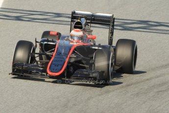 World © Octane Photographic Ltd. McLaren Honda MP4/30 – Jenson Button. Thursday 19th February 2015, F1 Winter testing, Circuit de Catalunya, Barcelona, Spain, Day 1. Digital Ref: 1187CB7B0372