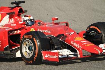 World © Octane Photographic Ltd. Scuderia Ferrari SF15-T – Kimi Raikkonen Thursday 19th February 2015, F1 Winter testing, Circuit de Catalunya, Barcelona, Spain, Day 1. Digital Ref: 1187CB7B0411