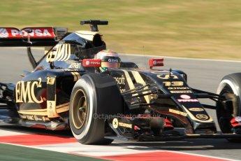 World © Octane Photographic Ltd. Lotus F1 Team E23 Hybrid – Pastor Maldonado. Thursday 19th February 2015, F1 Winter testing, Circuit de Catalunya, Barcelona, Spain, Day 1. Digital Ref :1187CB7B0616