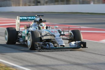 World © Octane Photographic Ltd. Mercedes AMG Petronas F1 W06 Hybrid – Lewis Hamilton. Thursday 19th February 2015, F1 Winter testing, Circuit de Catalunya, Barcelona, Spain, Day 1. Digital Ref : 1187CB7D1340