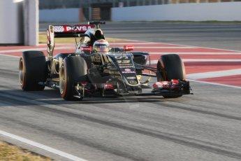 World © Octane Photographic Ltd. Lotus F1 Team E23 Hybrid – Pastor Maldonado. Thursday 19th February 2015, F1 Winter testing, Circuit de Catalunya, Barcelona, Spain, Day 1. Digital Ref : 1187CB7D1344
