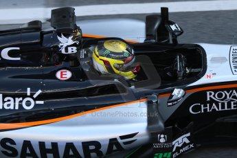 World © Octane Photographic Ltd. Sahara Force India VJM07 – Pascal Wehrlein. Thursday 19th February 2015, F1 Winter testing, Circuit de Catalunya, Barcelona, Spain, Day 1. Digital Ref :1187CB7L1384