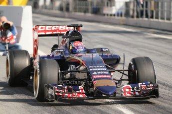 World © Octane Photographic Ltd. Scuderia Toro Rosso STR10 – Max Verstappen. Thursday 19th February 2015, F1 Winter testing, Circuit de Catalunya, Barcelona, Spain, Day 1. Digital Ref: 1187CB7L1441