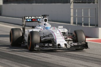 World © Octane Photographic Ltd. Williams Martini Racing FW37 – Susie Wolff. Thursday 19th February 2015, F1 Winter testing, Circuit de Catalunya, Barcelona, Spain, Day 1. Digital Ref:1187CB7L1453