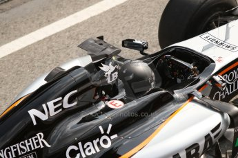 World © Octane Photographic Ltd. Sahara Force India VJM07 – Sergio Perez. Thursday 19th February 2015, F1 Winter testing, Circuit de Catalunya, Barcelona, Spain, Day 1. Digital Ref :1187CB7L1562