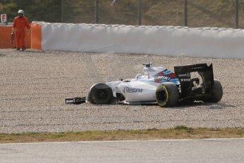 World © Octane Photographic Ltd. Williams Martini Racing FW37 – Susie Wolff. Thursday 19th February 2015, F1 Winter testing, Circuit de Catalunya, Barcelona, Spain, Day 1. Digital Ref:1187CB7L1564