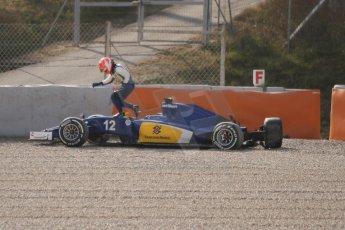 World © Octane Photographic Ltd. Sauber F1 Team C34-Ferrari – Felipe Nasr. Thursday 19th February 2015, F1 Winter testing, Circuit de Catalunya, Barcelona, Spain, Day 1. Digital Ref : 1187CB7L1609