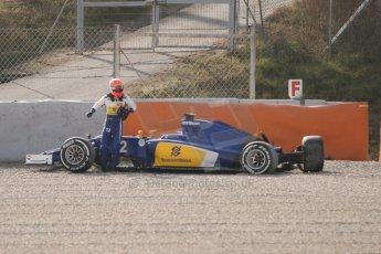 World © Octane Photographic Ltd. Sauber F1 Team C34-Ferrari – Felipe Nasr. Thursday 19th February 2015, F1 Winter testing, Circuit de Catalunya, Barcelona, Spain, Day 1. Digital Ref : 1187CB7L1610
