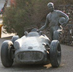 World © Octane Photographic Ltd. Juan-Manual Fangio tribute. Thursday 19th February 2015, F1 Winter testing, Circuit de Catalunya, Barcelona, Spain, Day 1. Digital Ref : 1187CB7L1675