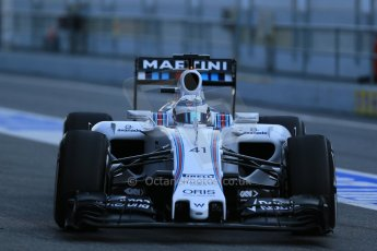 World © Octane Photographic Ltd. Williams Martini Racing FW37 – Susie Wolff. Thursday 19th February 2015, F1 Winter testing, Circuit de Catalunya, Barcelona, Spain, Day 1. Digital Ref: 1187LB1D5411