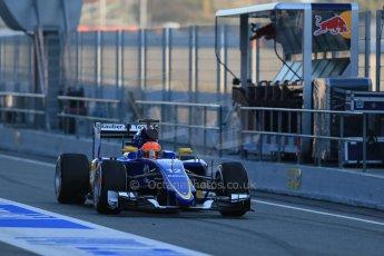 World © Octane Photographic Ltd. Sauber F1 Team C34-Ferrari – Felipe Nasr. Thursday 19th February 2015, F1 Winter testing, Circuit de Catalunya, Barcelona, Spain, Day 1. Digital Ref : 1187LB1D5472