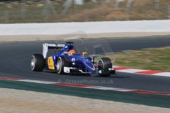 World © Octane Photographic Ltd. Sauber F1 Team C34-Ferrari – Felipe Nasr. Thursday 19th February 2015, F1 Winter testing, Circuit de Catalunya, Barcelona, Spain, Day 1. Digital Ref : 1187LB1D5538