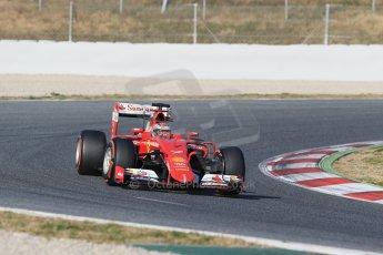 World © Octane Photographic Ltd. Scuderia Ferrari SF15-T – Kimi Raikkonen Thursday 19th February 2015, F1 Winter testing, Circuit de Catalunya, Barcelona, Spain, Day 1. Digital Ref: 1187LB1D5606