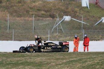 World © Octane Photographic Ltd. Lotus F1 Team E23 Hybrid – Pastor Maldonado. Thursday 19th February 2015, F1 Winter testing, Circuit de Catalunya, Barcelona, Spain, Day 1. Digital Ref : 1187LB1D5616