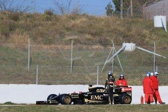 World © Octane Photographic Ltd. Lotus F1 Team E23 Hybrid – Pastor Maldonado. Thursday 19th February 2015, F1 Winter testing, Circuit de Catalunya, Barcelona, Spain, Day 1. Digital Ref : 1187LB1D5631