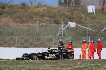 World © Octane Photographic Ltd. Lotus F1 Team E23 Hybrid – Pastor Maldonado. Thursday 19th February 2015, F1 Winter testing, Circuit de Catalunya, Barcelona, Spain, Day 1. Digital Ref : 1187LB1D5634